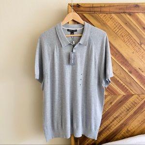 NWT!! Men's Michael Kors Solid Knit Polo Shirt XXL